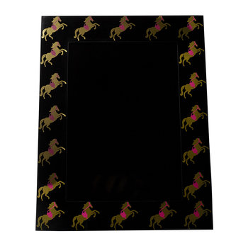 Gold and Pink Horses Photo Frame