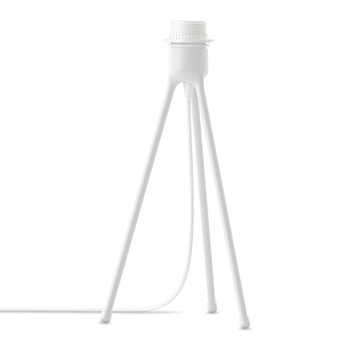 Tripod Matt Table Lamp Stand - White