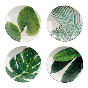 Amazon Floral Melamine Side Plate - Set of 4