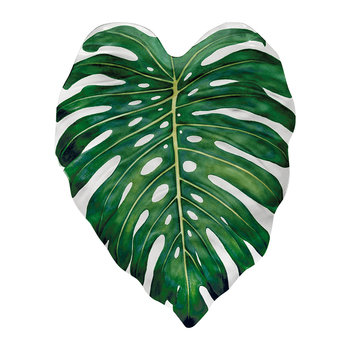 Amazon Floral Melamine Monstera Leaf Platter
