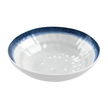Coastal Melamine Low Bowl
