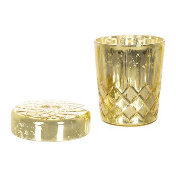 Gold Cut Glass Scented Candle