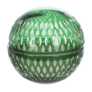 Cut Glass Ball Scented Candle - Green