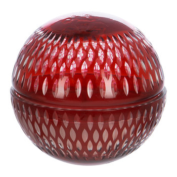 Cut Glass Ball Scented Candle - Red