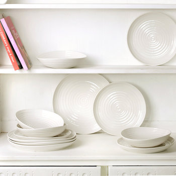 White Porcelain Coupe Dinner Plate - Set of 4