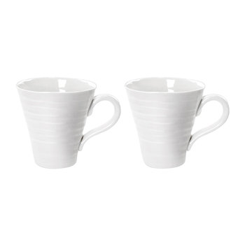 White Porcelain Mugs - Set of 2