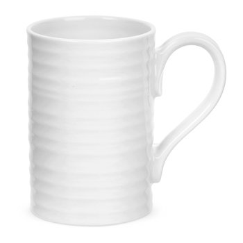White Porcelain Tall Mugs - Set of 4