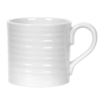 White Porcelain Short Mugs - Set of 4