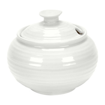 White Porcelain Covered Sugar Bowl
