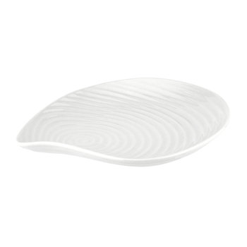 White Porcelain Shell Side Plates - Set of 4