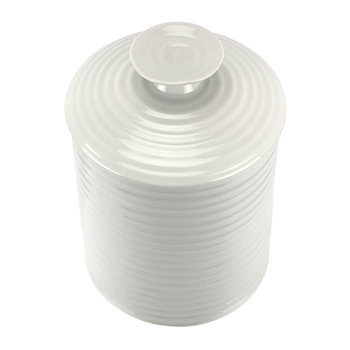 White Porcelain Storage Jar