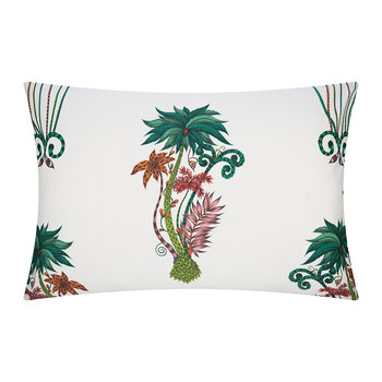 Jungle Palms Pillowcase - Set of 2 - White - 50x75cm