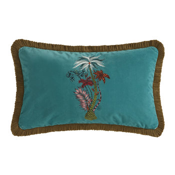 Jungle Palms Pillow - Teal - 30x50cm