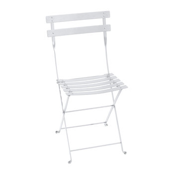Bistro Metal Garden Chair - Cotton White