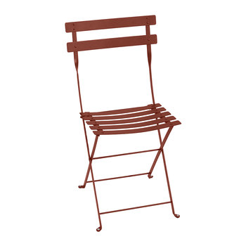 Bistro Metal Garden Chair - Red Ochre