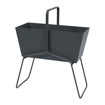 Basket High Planter - Anthracite