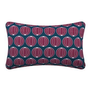 Melons Outdoor Pillow - Petrol Blue - 68x45cm