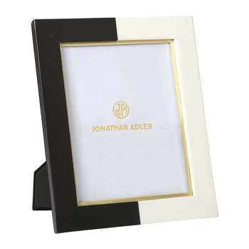 Canaan Marble Photo Frame - Black/White - 8x10""
