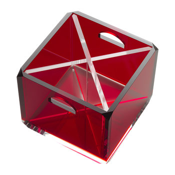 Square Acrylic Cutlery Holder - Red