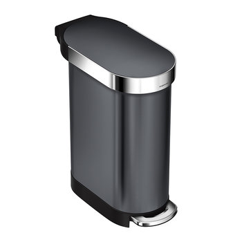 Slim Pedal Bin - 45L - Stainless Steel