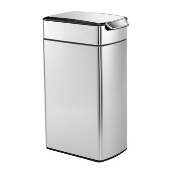 Slim Touch Bar Bin - Brushed Steel - 40L