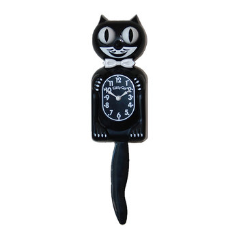 Kitty-Cat Bow Tie Wall Clock