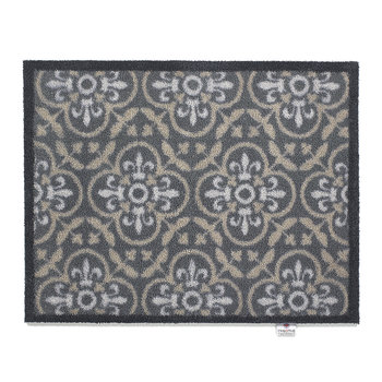 Tiles Washable Recycled Door Mat - Taupe