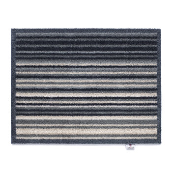 Stripe Washable Recycled Door Mat - Grey - 65x85cm