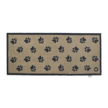 Paws Washable Recycled Door Mat - 65x150cm - Beige
