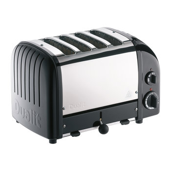 Classic Toaster - Matte Black Finish - 4 Slot