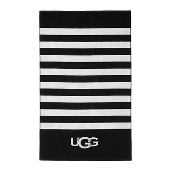 Cabana Logo Beach Towel - Black/Snow