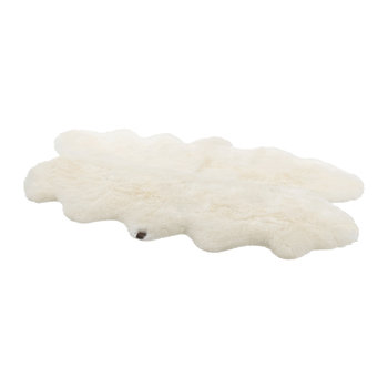Tapis en Peau de Mouton - Naturel - Quad
