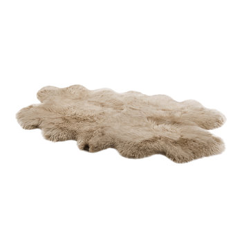 Tapis en Peau de mouton - Sable - Quad