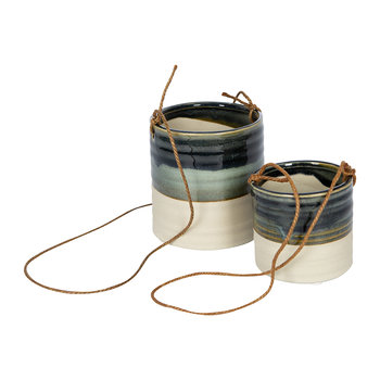 Milan Hanging Planter - Set of 2 - Blue