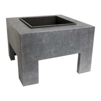 Square Fire Bowl - Cement