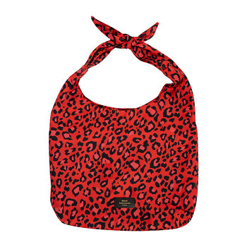 Satin Tote Bag - Red Leopard