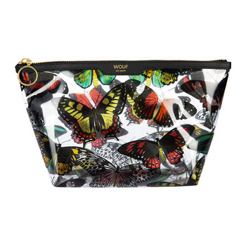 Papillons Vinyl Cosmetic Bag
