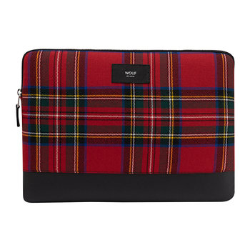 Red Tartan Laptop Case