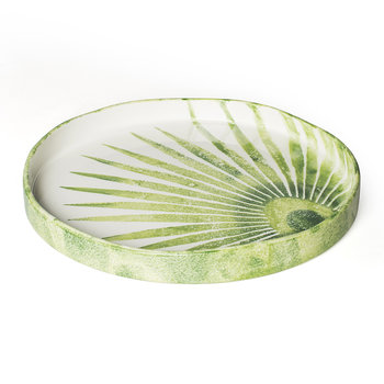 Into The Jungle Round Palm Leaf Tray