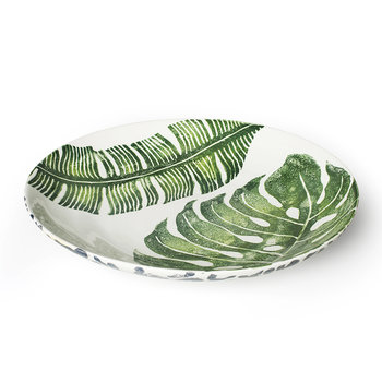 Into The Jungle Banana Leaf/Leopard Serving Bowl - Medium