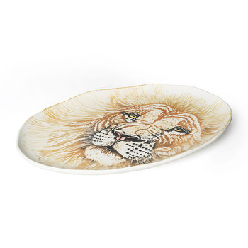 Into The Jungle Giant Oval Lion Platter