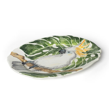 Into The Jungle Oval Cockatoo Platter