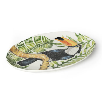 Into The Jungle Oval Toucan Platter