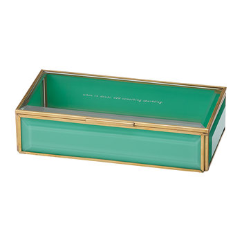 Out Of The Box Glass Jewelry Box - Turquoise