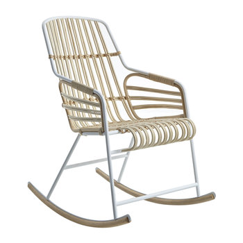 Raphia Rocking Chair - White