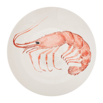 Creatures Pink Prawn Serving Bowl