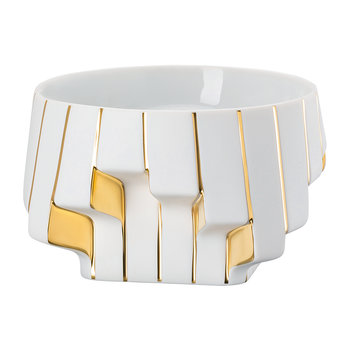 Strip Dish - White Gold