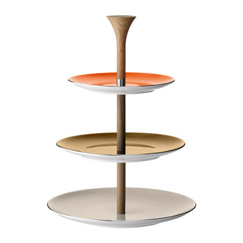 Polka Tiered Cake Stand - Metallic