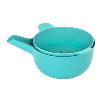 Pronto Small Handy Bowl and Colander Set - Lagoon