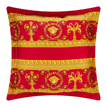 Barocco&Robe Double Face Reversible Pillow - Red/Black/Gold
